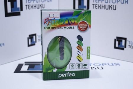 Мышь проводная Perfeo PF-353-OP Green