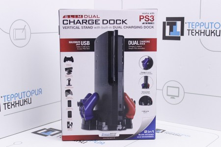 Док-станция DreamGear PS3 Slim Vertical Stand w Dual Charger Dock