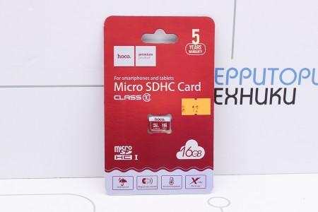 Карты памяти Hoco microSD 16GB class 10