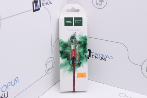 Кабель Hoco X14 Micro USB Times Speed Charging cable 1m Red/Black