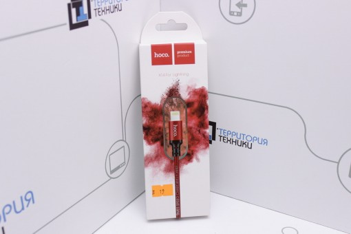 Кабель Hoco X14 Lightning Times Speed Charging cable 1m Red/Black