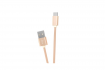 Кабель Hoco X2 KNITTED Flash USB - USB Type-C 1m Gold