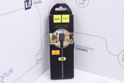 Кабель Hoco X20 Flash USB - microUSB 1m Black