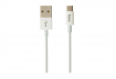 Кабель Hoco X23 SKILLED Flash USB - microUSB 1m White