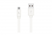 Кабель Hoco X5 BAMBOO Flash USB - microUSB 1m White