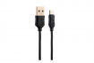 Кабель Hoco X6 KHAKI Flash USB - microUSB 1m Black