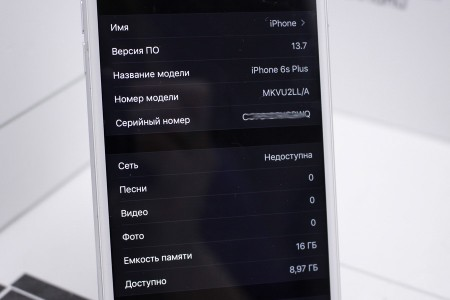 Смартфон Б/У Apple iPhone 6s Plus 16GB Silver