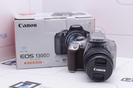 Фотоаппарат Б/У зеркальный Canon EOS 1300D Kit 18-55mm IS II