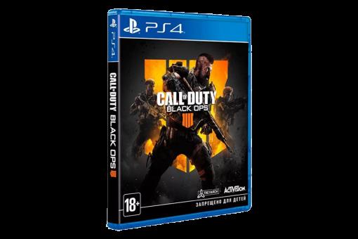 Диск с игрой Call of Duty: Black Ops 4 для PlayStation 4