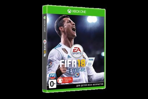 Диск с игрой FIFA 18 для xBox One