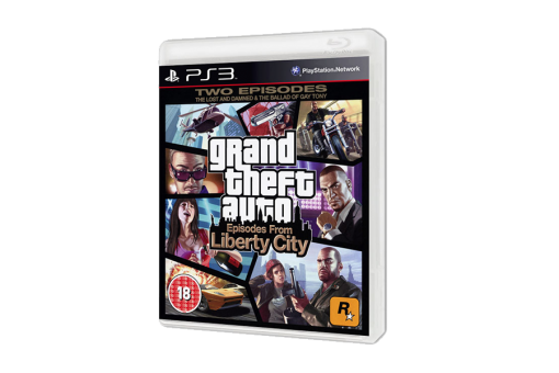 Диск с игрой Grand Theft Auto: Episodes from Liberty City