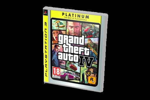 Диск с игрой Grand Theft Auto IV Platinum