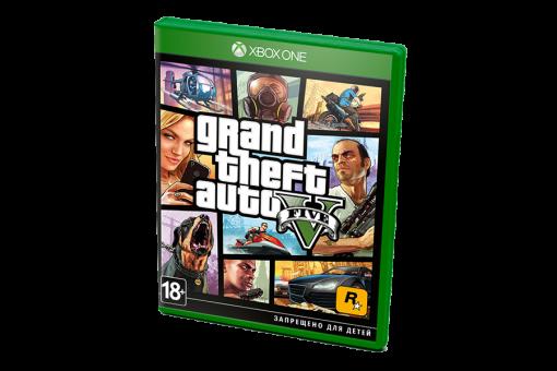 Диск с игрой Grand Theft Auto V для xBox One