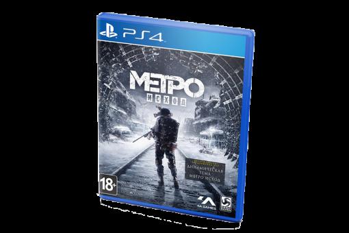 Диск с игрой Метро: Исход для PlayStation 4