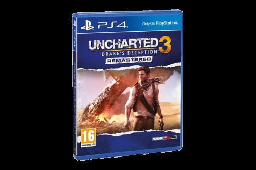 Диск с игрой Uncharted 3: Drake's Deception для PlayStation 4