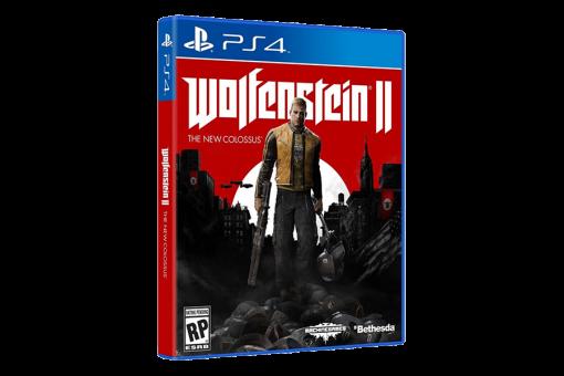 Диск с игрой Wolfenstein II: The New Colossus для PlayStation 4