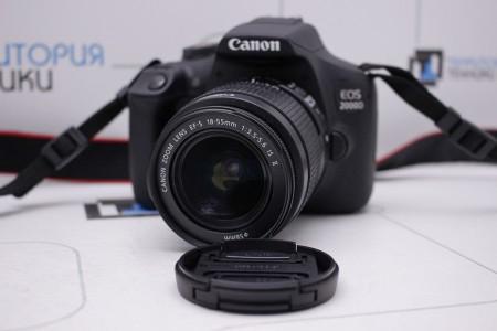 Фотоаппарат Б/У зеркальный Canon EOS 2000D Kit 18-55mm IS II