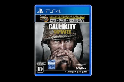 Диск с игрой Call of Duty: WWII для PlayStation 4