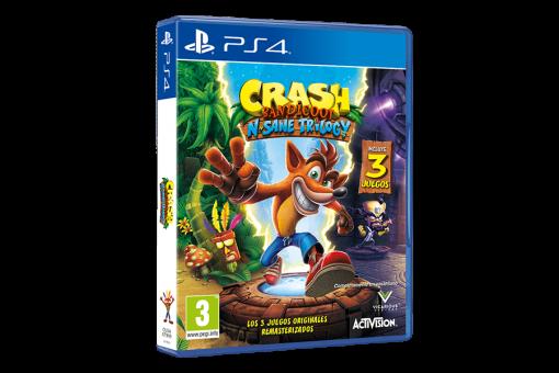 Диск с игрой Crash Bandicoot N. Sane Trilogy для PlayStation 4