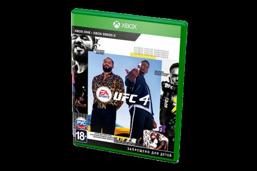Диск с игрой EA Sports UFC 4 для xBox One/xBox Series X