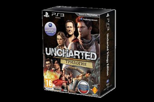 Диск с игрой Uncharted Трилогия для PlayStation 3