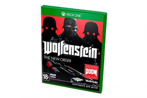 Диск с игрой Wolfenstein: The New Order для xBox One