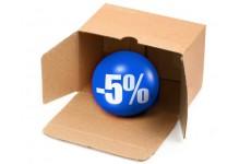 Скидка 5% при повторной покупке техники в течение 6 месяцев